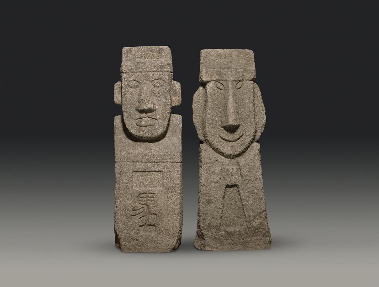 벽사, 길상, 의리의 상징으로 말을 뜻하는 한자가 새겨져있다.